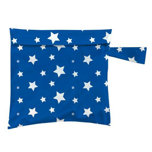 שק כביסה קטן לדרך TOTE BAG WHITE STARS ON BLUE